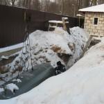 Зимний монтаж ёмкости